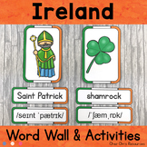Ireland - Word Wall and Puzzle Activity