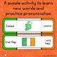 Ireland - Word Wall Words and Puzzle Activity - Vocabulary