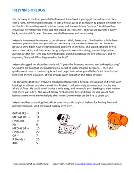Irelynn's Firedog -- a story for articulation practice