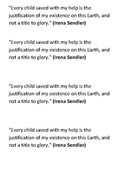 Irena Sendler Word Search