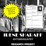Irene Sharaff: Research Project, Autobiography Worksheet