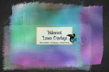 Iridescent Linen Overlays, burlap texture photography overlay clipart