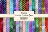 Iridescent mermaid scale patterns, glitter shimmer digital
