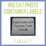 Iris 5x7 Photo Container Labels