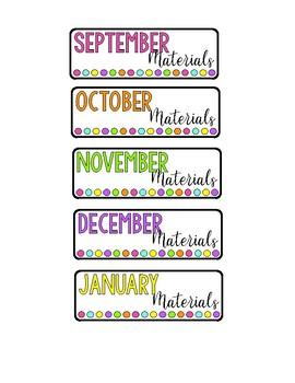 Iris Scrapbook Monthly Labels