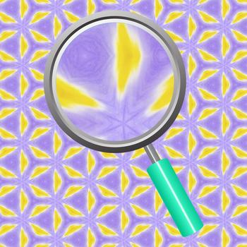 Iris Temptation Kalidoscope Background / Digital Paper in Purple, Yellow & White
