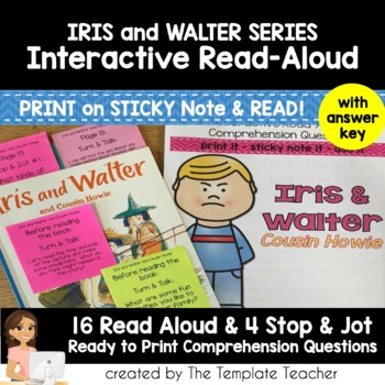 Reading Comprehension Questions & Read Aloud with Iris and Walter BUNDLE