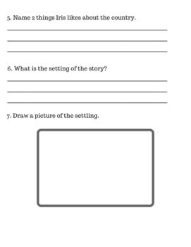 Iris and Walter Comprehension Questions