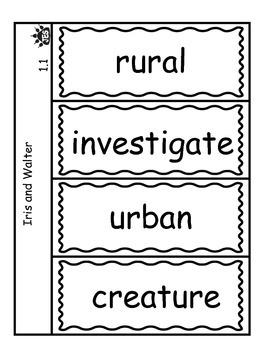 Iris and Walter vocabulary flap book