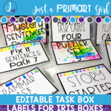 Iris photo box labels for task boxes