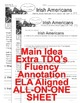 Irish Americans Close Read 5 Levels Info Tx Fluency Main Idea TDQ All-On-One