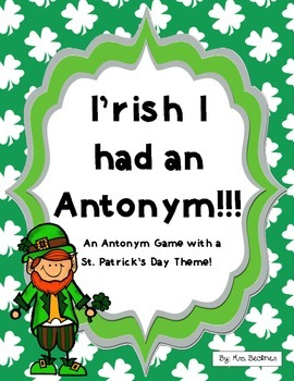 Irish Antonym Game