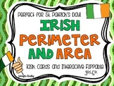 Irish Area and Perimeter Freebie {St. Patrick's Day Math Center}