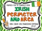 Irish Area and Perimeter Freebie {St. Patrick's Day Math Center}