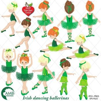 Irish Ballerina clipart, Irish Ballet clipart, {Best Teacher Tools} AMB-1588
