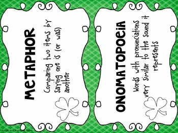 Irish Blessings *St. Patrick's Day Themed Literacy Activities for Big Kids*