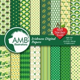 Irish Digital Papers, St Patricks Day Papers and Backgrounds AMB-1587