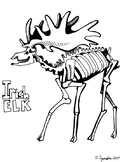 Irish Elk Coloring Page