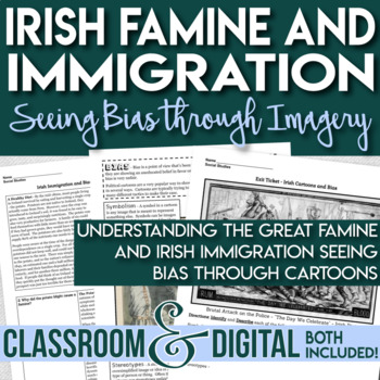 Irish Famine - Irish Immigration - Irish Immigrants - Examining Bias in Cartoons