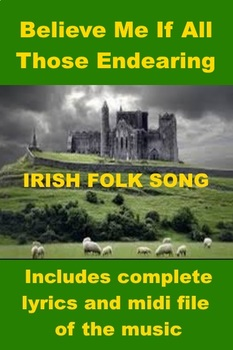 Irish Folk Song - Believe Me If All Those Endearing Young Charms