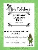 Irish Folklore LITERARY ANALYSIS TASK Test Prep for PARCC & LEAP 2025