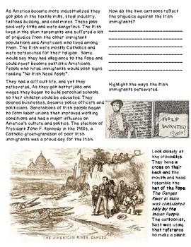 Irish Great Potato Famine and Immigration to America