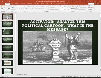 Irish Immigration to America Primary Source Research  U.S. History  History 101