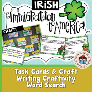 Irish Immigration to America with Crafts -  No Prep!