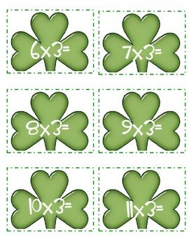Irish Jig Jigsaw Multiplying 3, 6 and 9 Times Tables