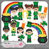 Irish Kids 1 - Art by Leah Rae Clip Art & Line Art / Digit