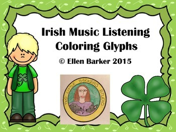 Irish Music Listening Coloring Glyphs