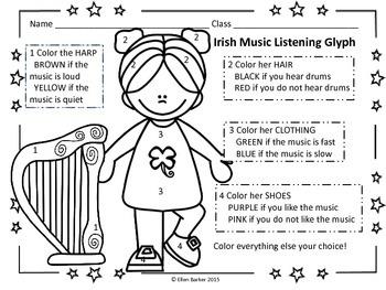 Irish Music Listening Glyph Freebie
