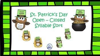 Irish Open/Closed Syllable Sort