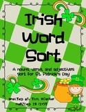 Irish Parts of Speech Word Sort