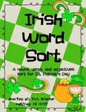 Irish Parts of Speech Word Sort
