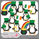 Irish Penguins 1 - Art by Leah Rae Clip Art & Line Art / D