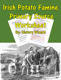 Irish Potato Famine Primary Source Worksheet
