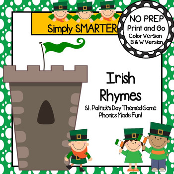 Irish Rhymes:  NO PREP St. Patrick's Day Themed Game