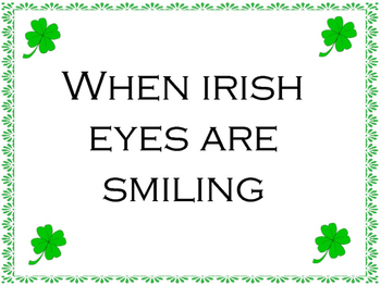 St. Patrick's Day Irish Songs PowerPoint