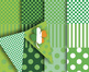 "Irish-Style Digital Scrapbook Papers – 12, 12 x 12"" Printables –9"" Pennants"