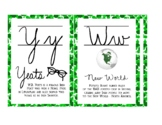 Irish Themed Cursive Letter Chart