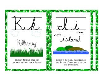 Irish Themed Cursive Letter Chart