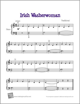 Irish Washer Woman | Free Celtic Sheet Music for Piano (Digital Print)
