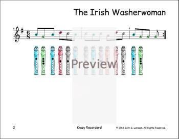 The Irish Washer Woman - St. Patrick's Day Recorder Sheet Music