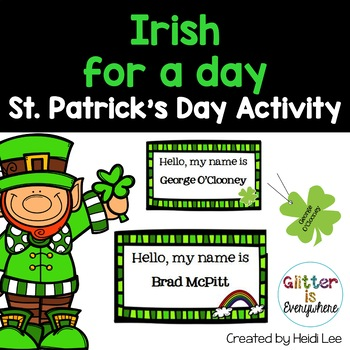 Irish for a Day! A St. Patrick's Day Activity