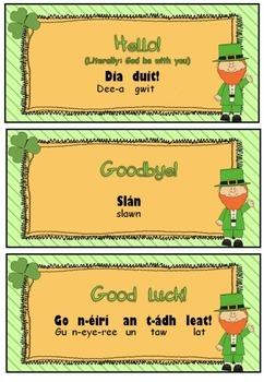 Irish phrases for St. Patrick's Day