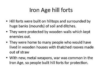 Iron Age hill forts power point