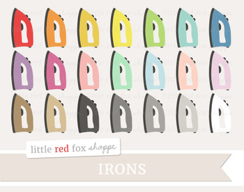 Iron Clipart; Cleaning, Laundry, Ironing