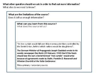 Iron Curtain Source Analysis Activity