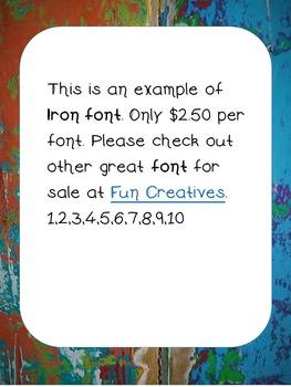 Iron Font- Fun Creatives